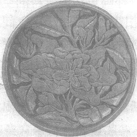 剔红栀子花纹盘