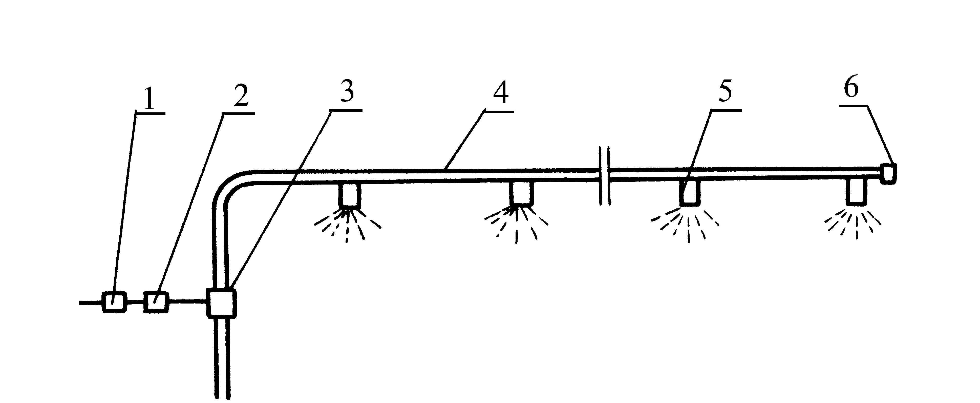 电磁水阀控制的喷淋降温系统示意图